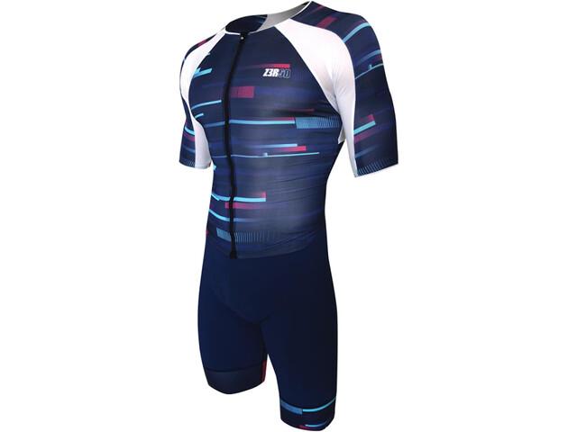 Z3R0D Racer Time Trial Strój triathlonowy Mężczyźni, revolution blue